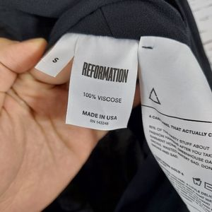 Reformation Tops - Reformation BodySuit Black Chandler Small
